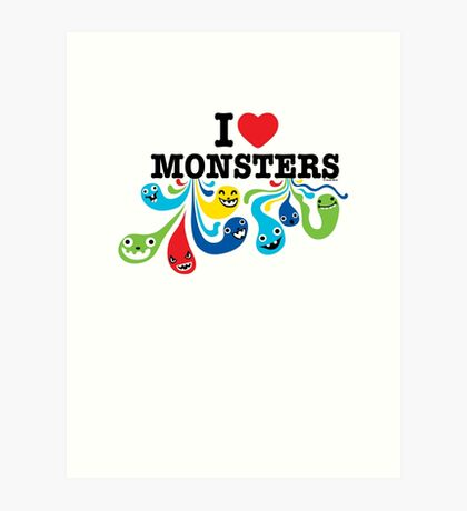 I Heart Monsters Art Print