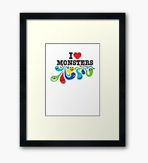 I Heart Monsters Framed Print