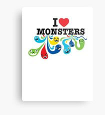 I Heart Monsters Metal Print