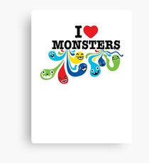 I Heart Monsters Canvas Print