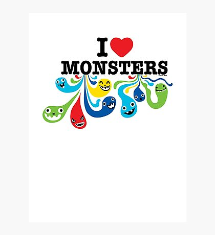 I Heart Monsters Photographic Print