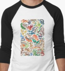 Mini dragon compendium  Men's Baseball ¾ T-Shirt
