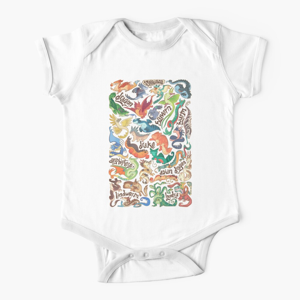 Mini dragon compendium  Baby One-Piece