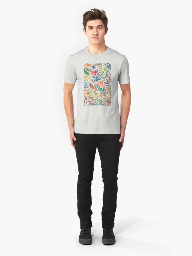 Alternate view of Mini dragon compendium  Slim Fit T-Shirt