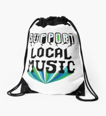 Support Local Music Drawstring Bag