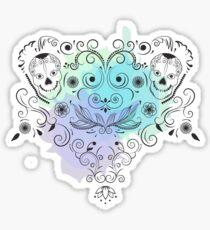 Ornamental print with skull Sticker