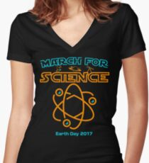 March for Science Earth Day 2017  Women's Fitted V-Neck T-Shirt