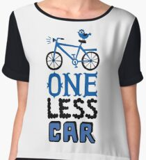 One Less Car Chiffon Top