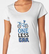 One Less Car Women's Premium T-Shirt