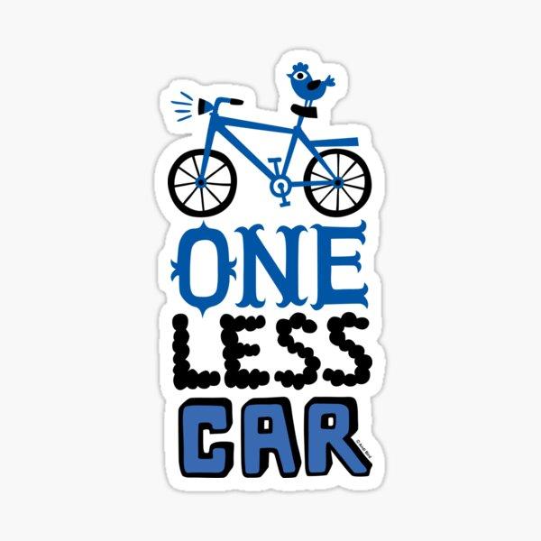 Ride Bike One Less Car Sticker Decal MTB MINI STYLE