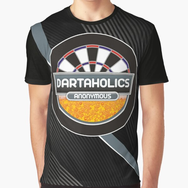 Dartaholics Anonymous Darts Shirt Graphic T-Shirt