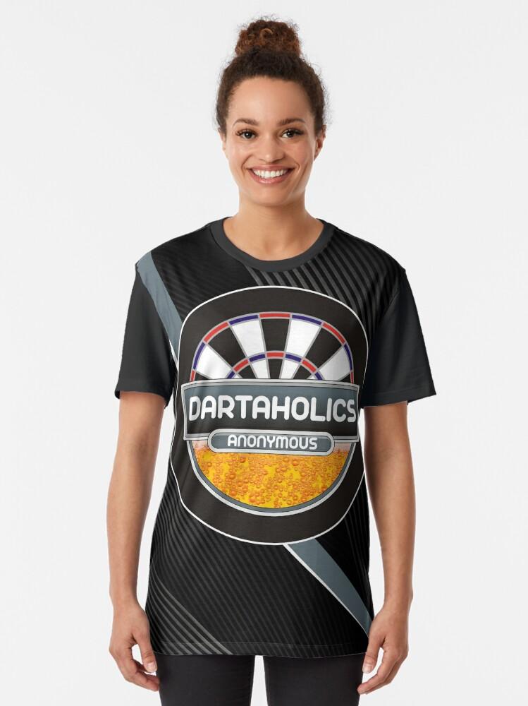 Alternate view of Dartaholics Anonymous Darts Shirt Graphic T-Shirt