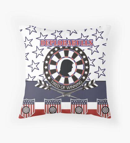 DeploraBulls Darts Shirt Throw Pillow
