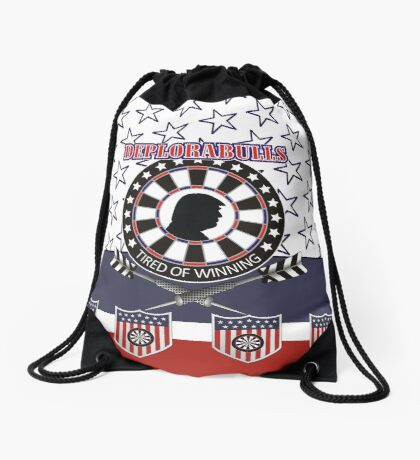 DeploraBulls Darts Shirt Drawstring Bag