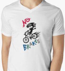 No Brakes Mens V-Neck T-Shirt