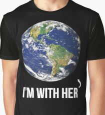 I'm With Her Mother Earth  Graphic T-Shirt