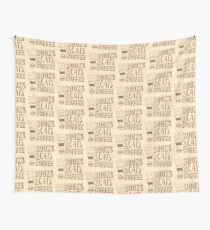 BOOKS and CATS and COFFEE Wall Tapestry