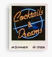 Cocktails und Träume 80er Polaroid Leinwanddruck