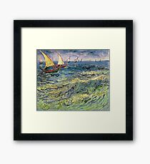 Fishing Boats at Saintes-Maries by Vincent van Gogh Framed Print