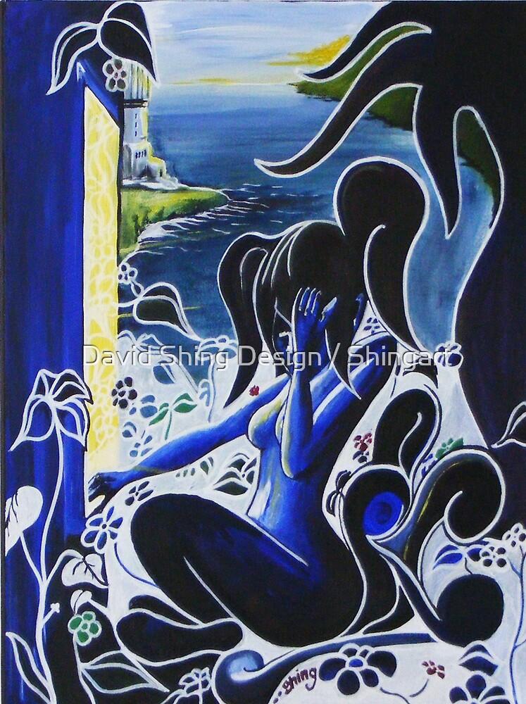 Blue woman by David Shing Design / Shingart