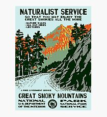 Vintage Travel Poster - Great Smoky Mountains National Park Photographic Print