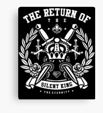 The Return Of The Silent King Retro Vintage Distressed Design Canvas Print