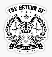 The Return Of The Silent King Retro Vintage Distressed Design Sticker