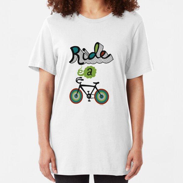 Ride a bike 3 Slim Fit T-Shirt