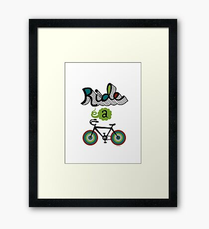 Ride a bike 3 Framed Print