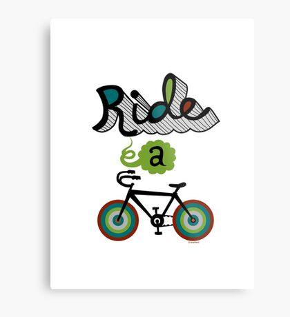 Ride a bike 3 Metal Print