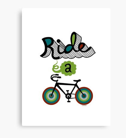 Ride a bike 3 Canvas Print
