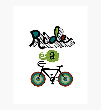 Ride a bike 3 Photographic Print