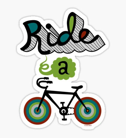 Ride a bike 3 Sticker