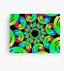 Rainbow Circle Fractal 41217 Canvas Print