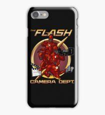 FLASH CAMERA DEPT iPhone Case/Skin