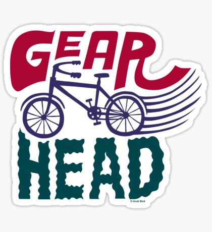 Gearhead - colored Sticker