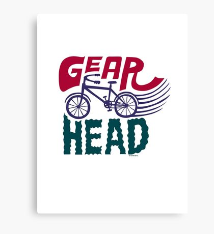 Gearhead - colored Canvas Print