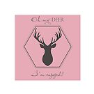 Oh my deer, I'm engaged by theweddingalley