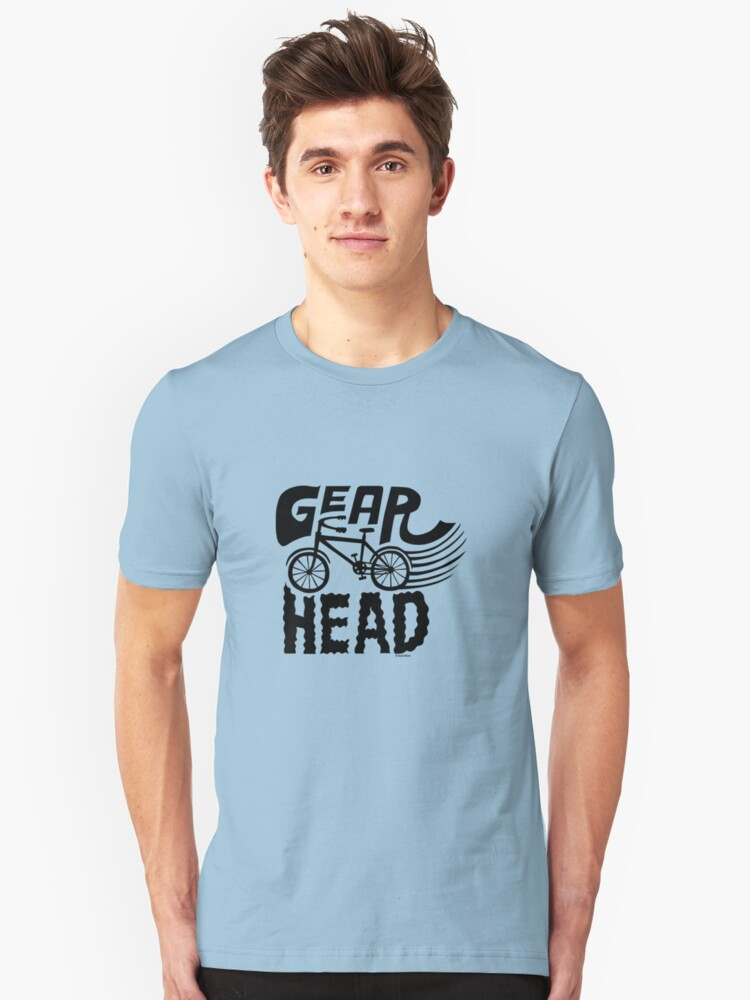 Gearhead -  black   Unisex T-Shirt Front