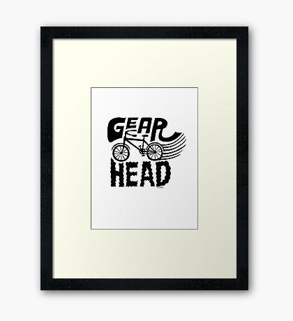 Gearhead -  black   Framed Print