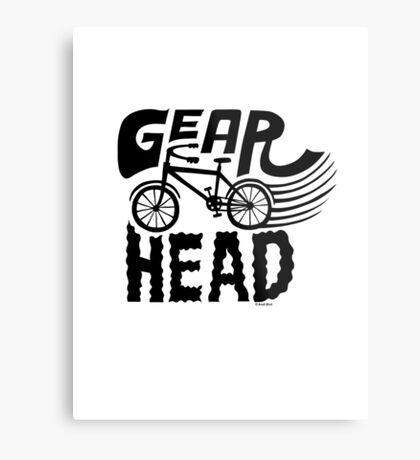 Gearhead -  black   Metal Print
