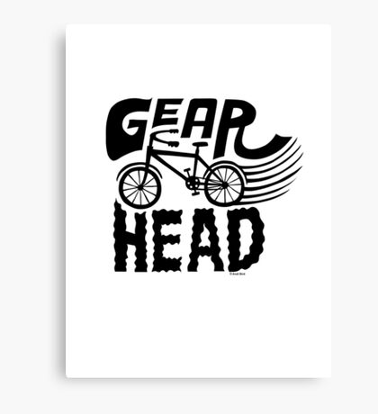 Gearhead -  black   Canvas Print