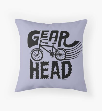 Gearhead -  black   Throw Pillow
