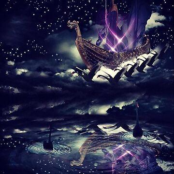 Swan Flight by Alanpearce