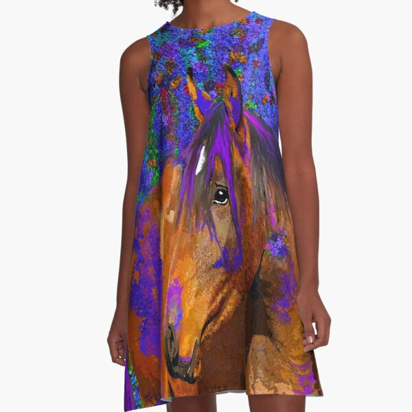 HORSE and PURPLE  A-Line Dress