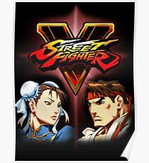 Street Fighter - Chun-li & Ryu Poster