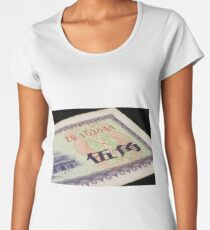 A close up of old chinese money Women's Premium T-Shirt