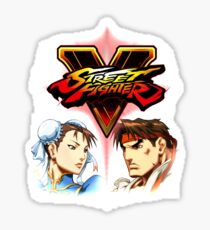 Street Fighter - Chun-li & Ryu Sticker