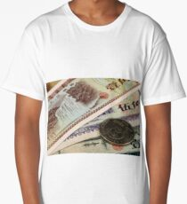 A close up of old chinese money Long T-Shirt