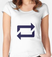 Tumblr Reblog Design Blue Women's Fitted Scoop T-Shirt